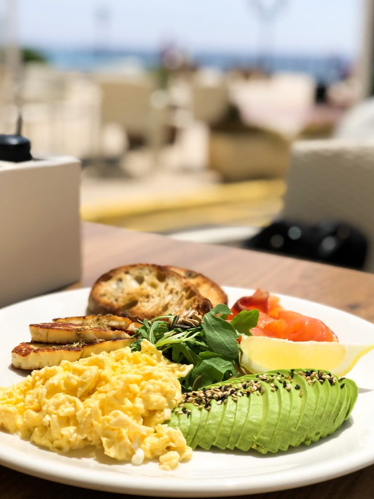 Ibiza Travel Guide.Healthy breakfast with a view in Ibiza.